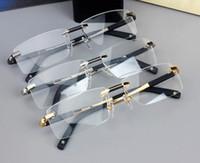 새로운 디자인 무선 안경 광선 스펙타클 남자 스퀘어 안경 프레임 0349 티타늄 안경 처방 렌즈 광학 프레임 안경