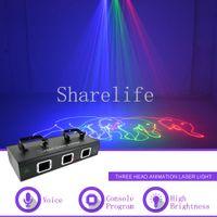 Sharelife 3 объектив 1 Вт RGB анимация DMX лазерный проектор свет домашний клуб концерт шоу профессиональный сценический эффект DJ освещение 503