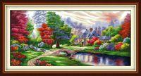 La peinture de décor à la maison coloré Ambilight, ensembles de travaux de broderie de broderie de point de croix à la main compté impression sur toile DMC 14CT / 11CT