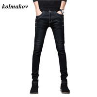 Kolmakov neue Ankunfts-Art-Mann-Boutique-Denim-Jeans-Qualitäts-Art und Weise beiläufige feste dünne Männer Bleistift-Hosen-dünne Hosen