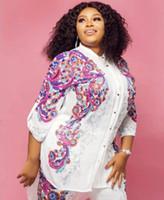 Африка одежда Африканский принт эластичный Базен мешковатые брюки рок стиль Dashiki рукав известный костюм для женщин пальто + леггинсы 2 шт./se
