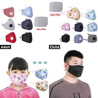 Filter Valve Mask Kids Adults PM2. 5 Cotton Anti Dust Fog Was...
