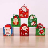 Christmas Candy Box Яблоко Box Дети подарков Мультфильм Семья партии Birthday Party Supplies Подарочная коробка Подарочная сумка Рождество XD22224