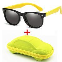 WarBlade الأطفال المستقطبة بنين طفلة سيليكون سلامة الأطفال نظارات شمسية 100٪ UV400 نظارات الطفل Oculos مع حالة
