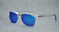 Brand Designer Mcy Jim 257 occhiali da sole polarizzati da uomo di alta qualità con lenti senza montatura da uomo che guidano gli occhiali da sole con custodia