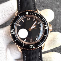45mm Luminous Watch 50 Fathoms Japaner Miyota 8215 Automatische Mechanische Herrenuhren Lederband Sport 2St