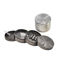Metal Tobacco Smoke Herb Grinder 58 * 43 milímetros 4 camada de Luxo fumadores Filtro Tubo Detector Retífica Acessórios YSY345-L