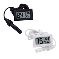 미니 디지털 LCD 온도계 습도계 온도 습도계 프로브 흰색 및 검정색 재고 있음 SN2476 무료 배송