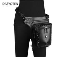 حقائب الخصر steampunk الجمجمة الرجال دراجة نارية حزام حقيبة متعددة الوظائف قطرة الساق حزم الشرير مواطنين النساء crossbody ZM0565
