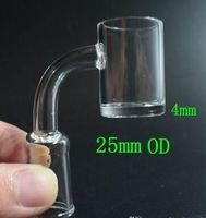 4 mm clair fond épais Quartz Banger ongles 10mm 14mm 18mm Homme Femme plat haut de 25 mm Quartz clou pour verre d'eau Bangs Dab Rigs