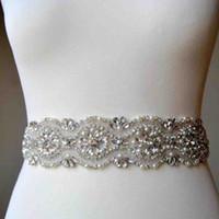 По индивидуальному заказу блестящий кристалл Peal бисером свадебные пояса платье невесты пояс