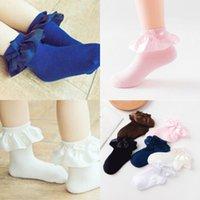 Прекрасный новорожденный малыш хлопок девочка противоскользящие носки кружева хлопок лодыжки носки обувь 0-5 лет