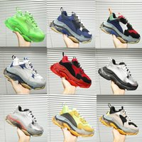 Men 19ss Triple S Trainers mens platform sneakers fashion ge...