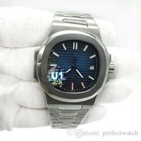 Mens Watch Blue Dial Transparent Back U1 Factory Movement Engraved Automatic Mechanical Stainless Steel Male Wrist watch
