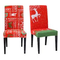 كرسي عيد الميلاد يغطي كرسي القابل للإزالة الغلاف تمتد تناول الطعام مقعد يغطي مطاطا الغلاف عيد الميلاد وليمة عرس ديكور LXL982-1