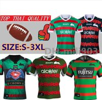 19 20 South Sydney Rabbitohs rugby jesrey 2019 2020 National Rugby League Domicile Maillot de football Australie ANZAC Maillots de rugby taille: S-3XL