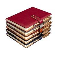 100 Hojas Bloc de notas en forma de U de la hebilla magnética Business Notebook Logo A5 Stationery Office Contabilidad libro personalizado impreso 5 colores disponibles