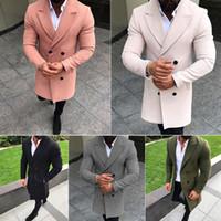 Herren Wollmischungen Hirigin Herren Mantel Mantel Anzug 2021 Jacken Freizeit Lange Abschnitte Wollmäntel Kragen Full Winter Männlichen Mantel Mantel