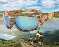 10PCS 새로운 카모 위장 선글라스 선글라스 안경 태양 유리 프레임 선글라스 지퍼 케이스 패키지 10 개 디자인