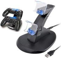 Двойной USB зарядка док-станции стенд зарядное устройство двойной зарядное устройство свет для PS4 Сони PlayStation 4 PS4 беспроводной контроллер про ПС4 Слим