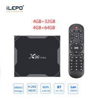 X96 ماكس أفضل ترقية جديدة الروبوت 8.1 مربع التلفزيون قوية amlogic s905x3 4 جيجابايت 64GB المزدوج واي فاي 1000M LAN 4K مربع التلفزيون الذكي