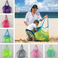 45*30cm Mesh Beach Bag Tote Kids Shell Collector Toys Storage Bags Boys Girls Children Mesh Handbag Sand Bag Sandboxes Backpack D3302