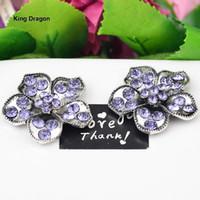 Fleur strass embellissement utilisé sur invitation de mariage décoration dos plat 30MM 20PCS / Lot Antique Silver KD553