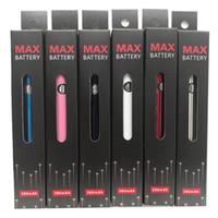 Amigo Max 예열 배터리 가변 전압 VV 바닥 충전 조정 가능한 380mAh 510 스레드 배터리 두꺼운 오일 카트리지 용 vape 펜 배터리