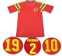 1990 Retro 10 Valderrama 9 Guerrero 2 Escobar Colo Colo Soccer Camicie Camicie classiche commemorate antiche vintage calcio calcio camiseta