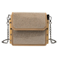 NEW- Studded Small Square Bag Ladies Bling Diamond Bag Chain ...