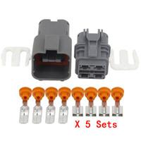 5 Imposta 4 Pin auto 6,3 millimetri Serie connettore dell'ossigeno Connettore impermeabile del sensore con Terminal DJ70453A-6,3-11 / 21, 7222-6244-40 7123-6244-40