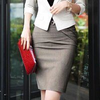 Women Pencil Midi Skirt Female Formal Wear Knee Length Basic...
