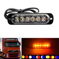 Car Truck light 6 LED Emergenza Attenzione Flash Strobe Flasher Dash Strobo Day Funzionante bianco / giallo / blu / rosso