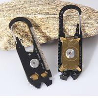 Paslanmaz Çelik Açık Taşınabilir Yardımcı Araçları Cep 20 1 Çok Fonksiyonlu Anahtarı Tornavida Açacağı EDC Survival Anahtarlık Aracı DH1308