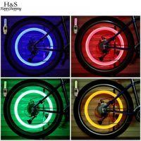Roue de bicyclette LED bicyclette de lumière colorée Casquettes de voiture lumières Accessoires de cyclisme Pneu Vélo Vélo Vélo Valve