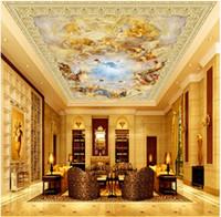 WDBH 3d tavan duvar kağıdı özel fotoğraf meleklerin Avrupa mermer resimleri dünyasını doldurun dekor 3d duvar kağıdı duvar kağıdı