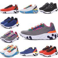 Nike Epic React Element 87 Undercover Eleman tepki Bebek Çocuk Koşu Ayakkabıları NEPTUNE GREENS Gizli Mavi erkek kız eğitmenler çocuk tasarımcı Spor Sneakers 28-35