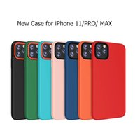 New Solid Silicone Case for iPhone 11 Pro Max Pure Color Sof...