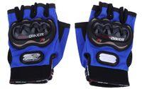 1 Par de Metade-dedo Luvas Da Motocicleta Moto Esportes Ao Ar Livre Equitação Respirável Engrenagens de Proteção Adequado Para Noite Equitação