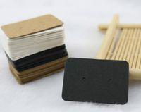 2.5x3.5cm Blank Packpapier-Ohrstecker-Karte Fall-Umbau Schmuck-Anzeigen-Ohrring Favor Preise Marking Garment Schlagwörter Beschriften