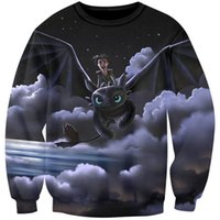 Anime Cartoon Pullovers Hombres Hip Hop Sudaderas con capucha Toothless Flying 3D Sudaderas Divertido Dragon Egg Impreso Chándales Abrigos