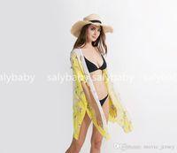 sommar simning bikeni ny mode liten fjäril mönster strand sjal färger täcker kan göra drop shipping
