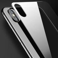 Voltar vidro moderado para o iPhone XS max 2.5D Film tampa traseira temperado protetor de tela para o iPhone XR XS Vidro Film