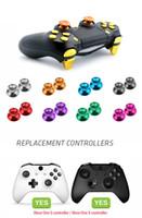 DATOS DE LA RANA metal Pulgar Sticks Joystick Botón de agarre para el regulador de Sony PS4 Stick analógico tapa para Xbox One / PS4 Delgado / Gamepad Pro