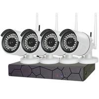 4ch نظام cctv اللاسلكية 960 وعاء nvr 4 قطع 1.3mp ir p2p wifi ip cctv الأمن كاميرا مراقبة كيت مع 1 تيرا بايت