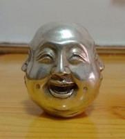 Zeldzame Tibet Tribal Miao zilver Chinese Tibet Zilver Gesneden 4 Gezicht Boeddha Decoratie Groothandel Factory Brass Arts Outlets