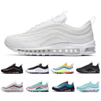 Nike Air Max 97 shoes Almofada Laser Fuchsia UNDEFEATED Triplo branco mens tênis sapatos persa Violet Silver Bullet Brilhante Citron Homens mulheres sports Sneakers