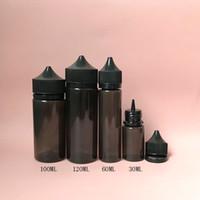 Черный пухлый горилла бутылка ручка PET Единорог 15 мл 30 мл 60 мл 100 мл 120 мл с Тампер очевидные колпачки для электронной жидкости Vape сок пластиковые бутылки