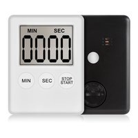 슈퍼 얇은 LCD 디지털 화면 주방 타이머 광장 요리 카운트까지 카운트 다운 알람 자석 시계 Temporizador