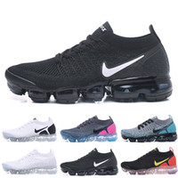 OFF WHITE x Nike Air VaporMax 2018 2.0 malha 2,0 Fly Homens Mulheres Running Shoes volt Multicolor Triplo Preto Branco Be True Red Orbit Mens Trainers Sneakers Tamanho 36-45 G66